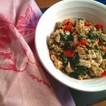 Freekeh Salad with Shiitake, Kale and Peppadews