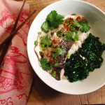 Asian Steamed Fish with Kale Sauté