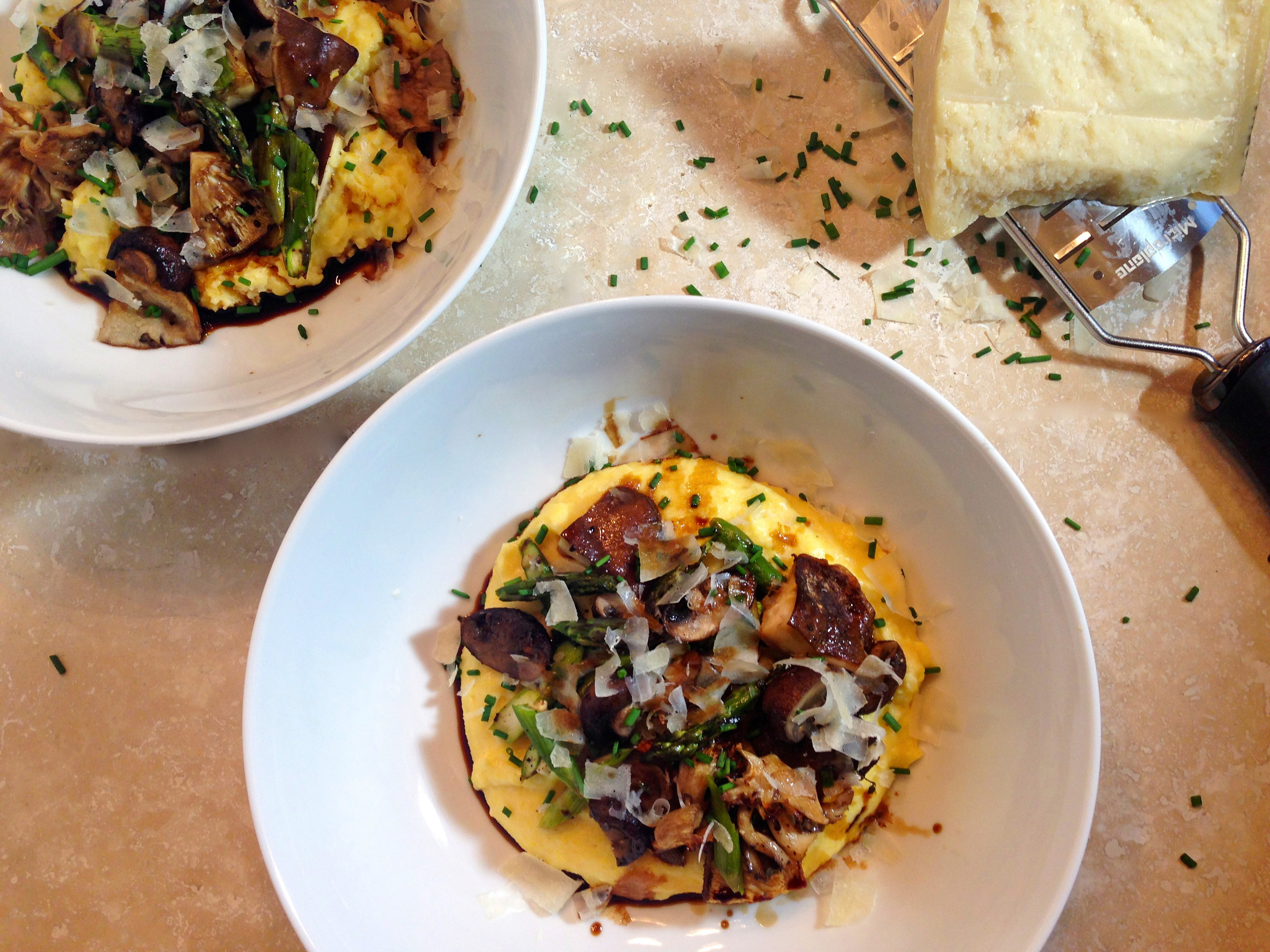... mushrooms seared steak and mushrooms on polenta creamy polenta creamy