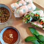 Vietnamese Shrimp Summer Rolls with Two Dipping Sauces